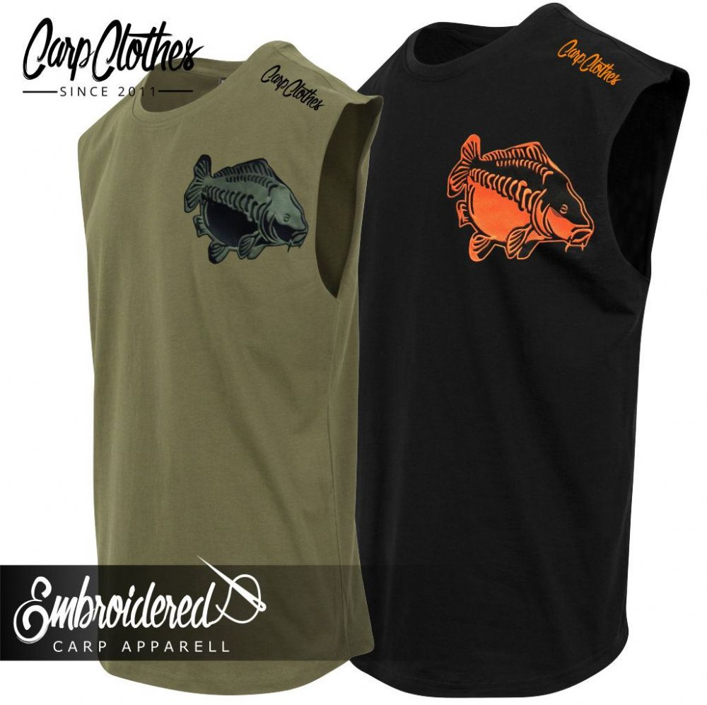009 EMBROIDERED SLEEVELESS T-SHIRT